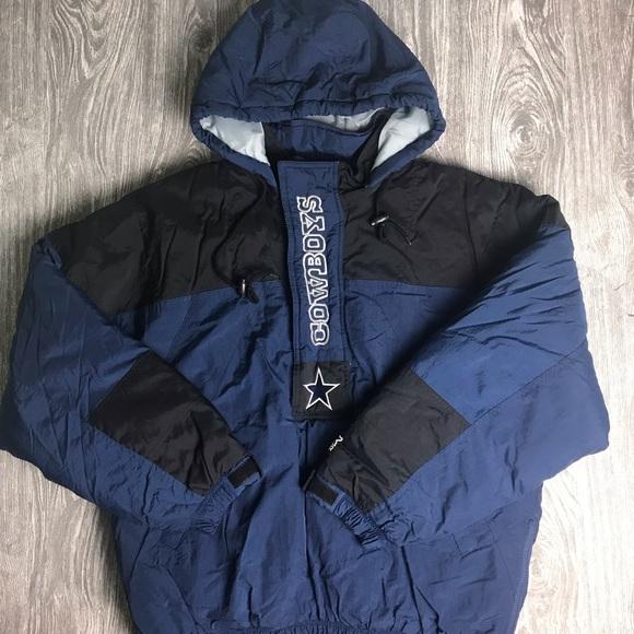 buy online 343fd 4c866 (VTG) Men's L STARTER DAL Cowboys Pullover Jacket